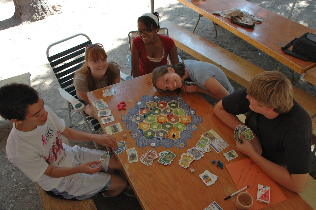 'Settlers of Catan' at Camp Peaceful Pines