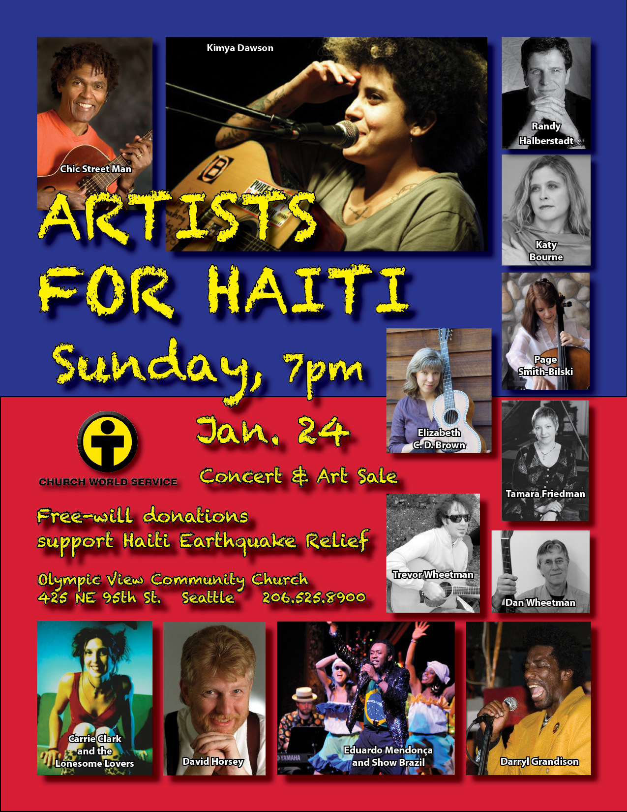 Artists for Haiti poster