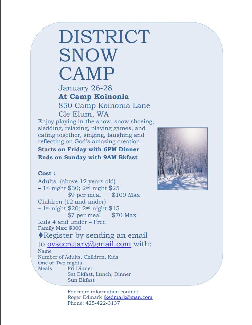 Snow Camp Flier